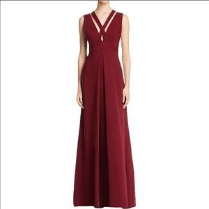 JILL Jill Stuart Criss Cross Strap Gown in Oxblood